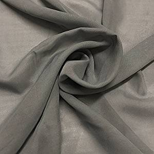 "58"" Grey Chiffon Fabric By The Yard - Polyester"