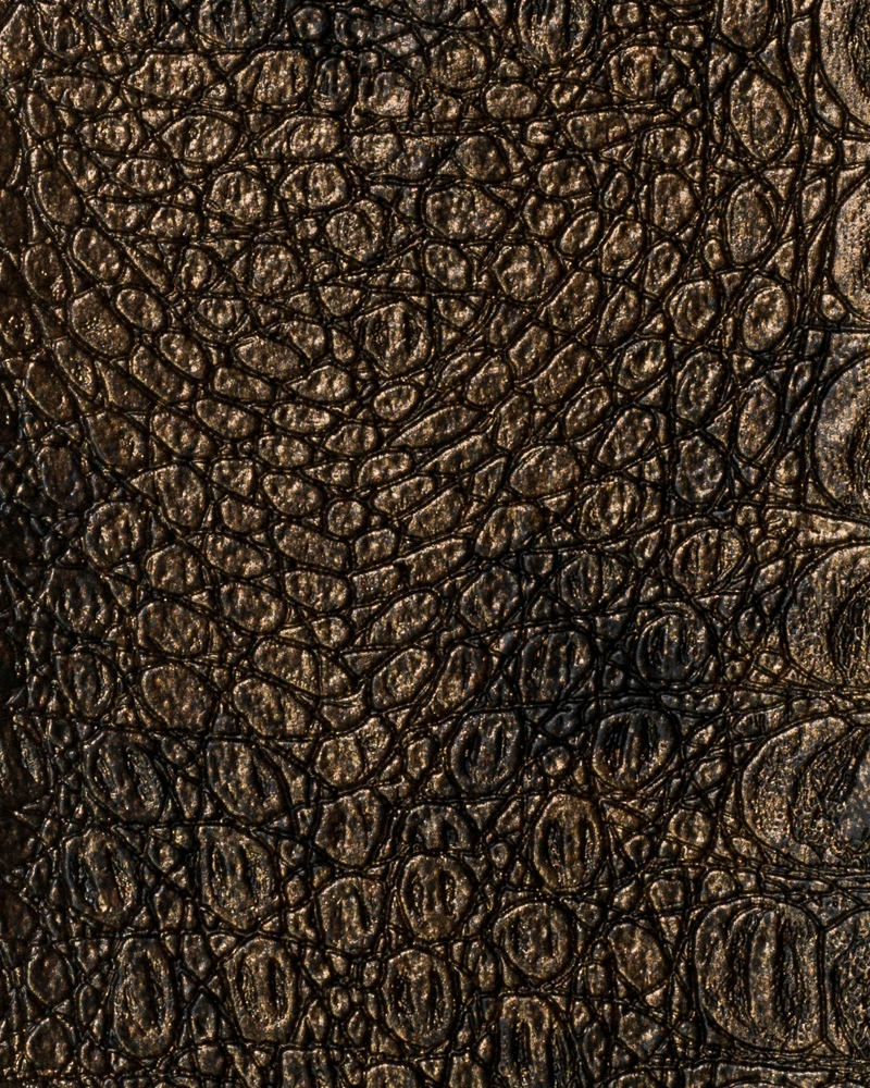 "54"" Gilt Metallic Gator Faux Leather Fabric - By The Yard"