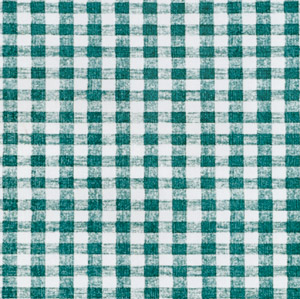 "54"" Green Gingham Vinyl with Flannel Back - 4 Yards"