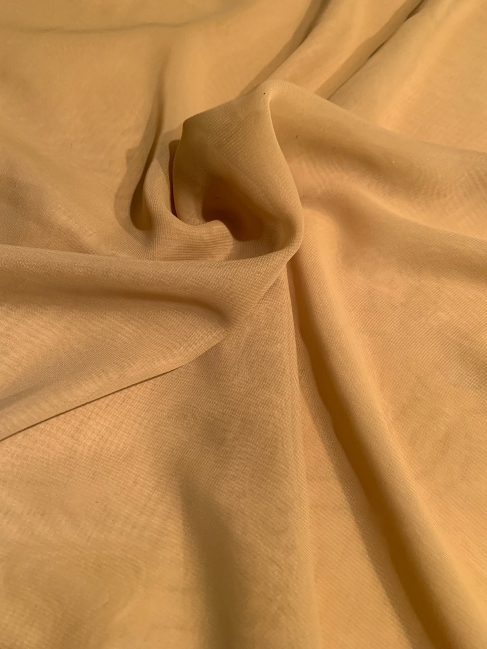 "58"" Gold Chiffon Fabric By The Yard - Polyester"