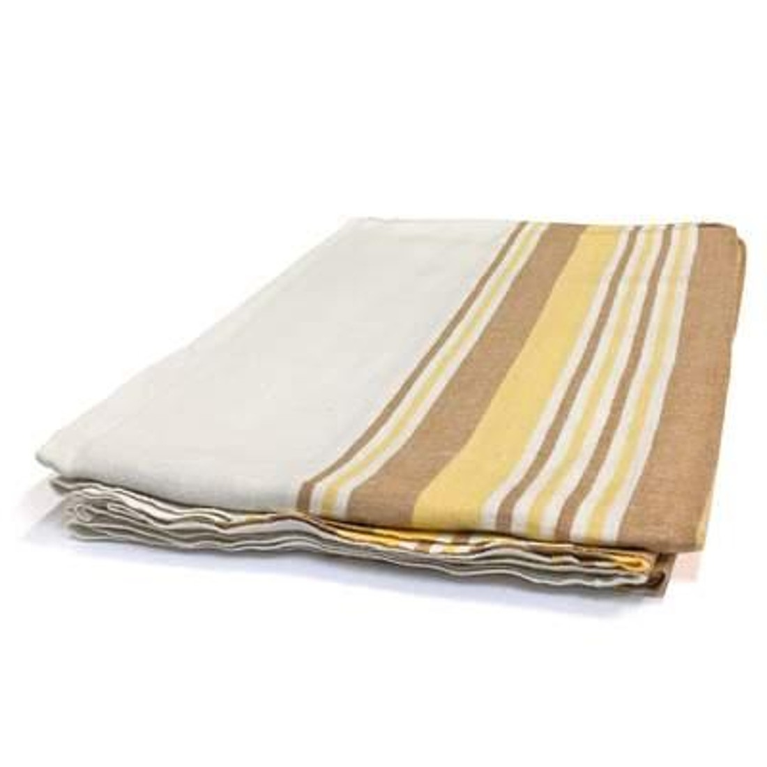 "Flannel Blanket 72"" x 90"" Gold Stripes"