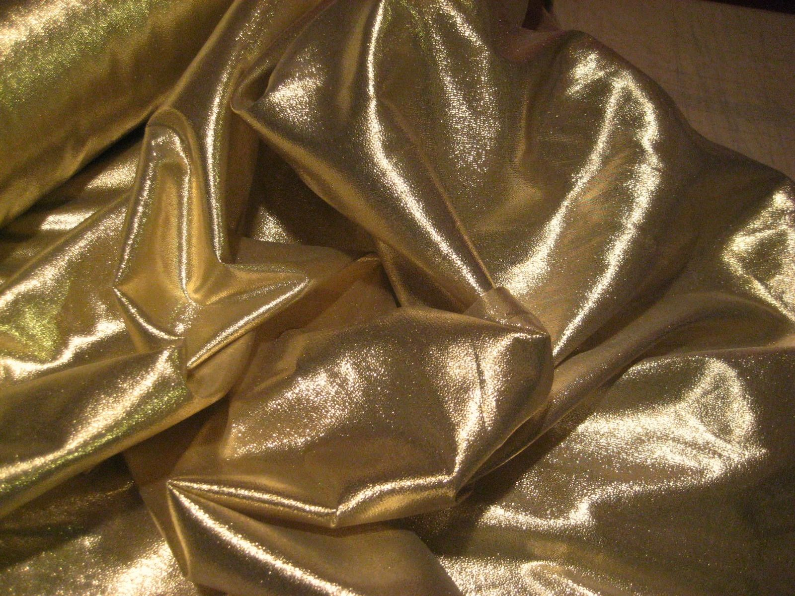"45"" Gold Lame Fabric - Per Yard"