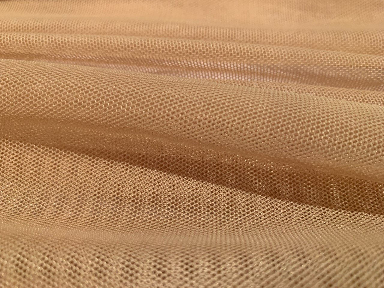 "60"" Gold Power Mesh Fabric 80% Poly 20% Spandex Per Yard"