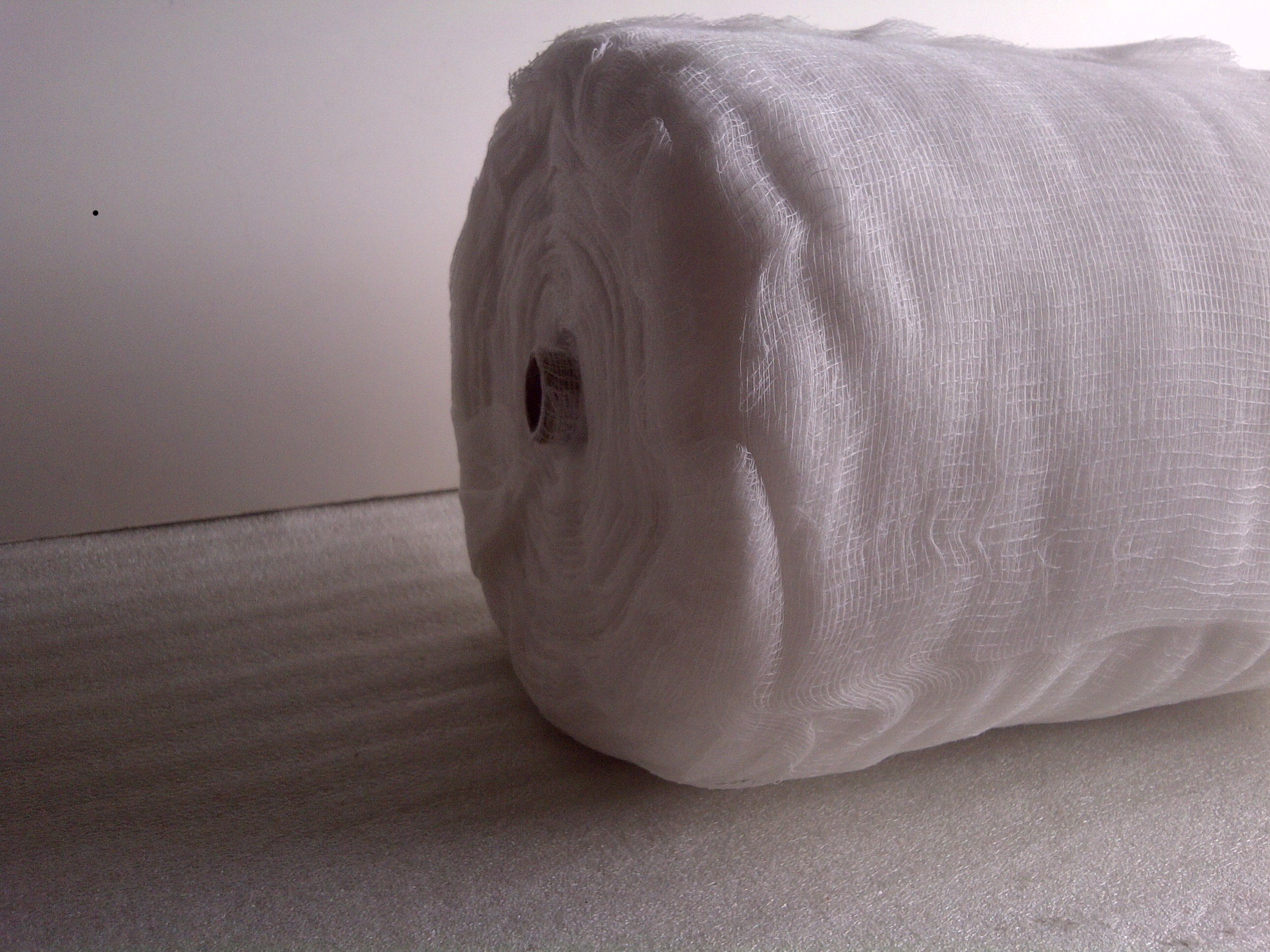 Grade 10 Cheesecloth 85 Yard Roll - White (Peel Off Pieces)