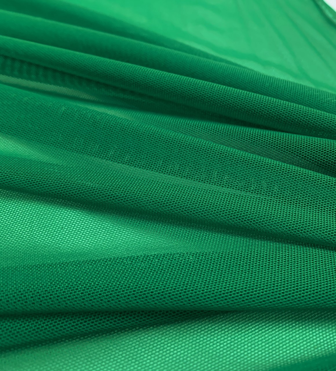 "58/60"" Wide Green Power Mesh 90% Nylon 10% Spandex Per Yar"