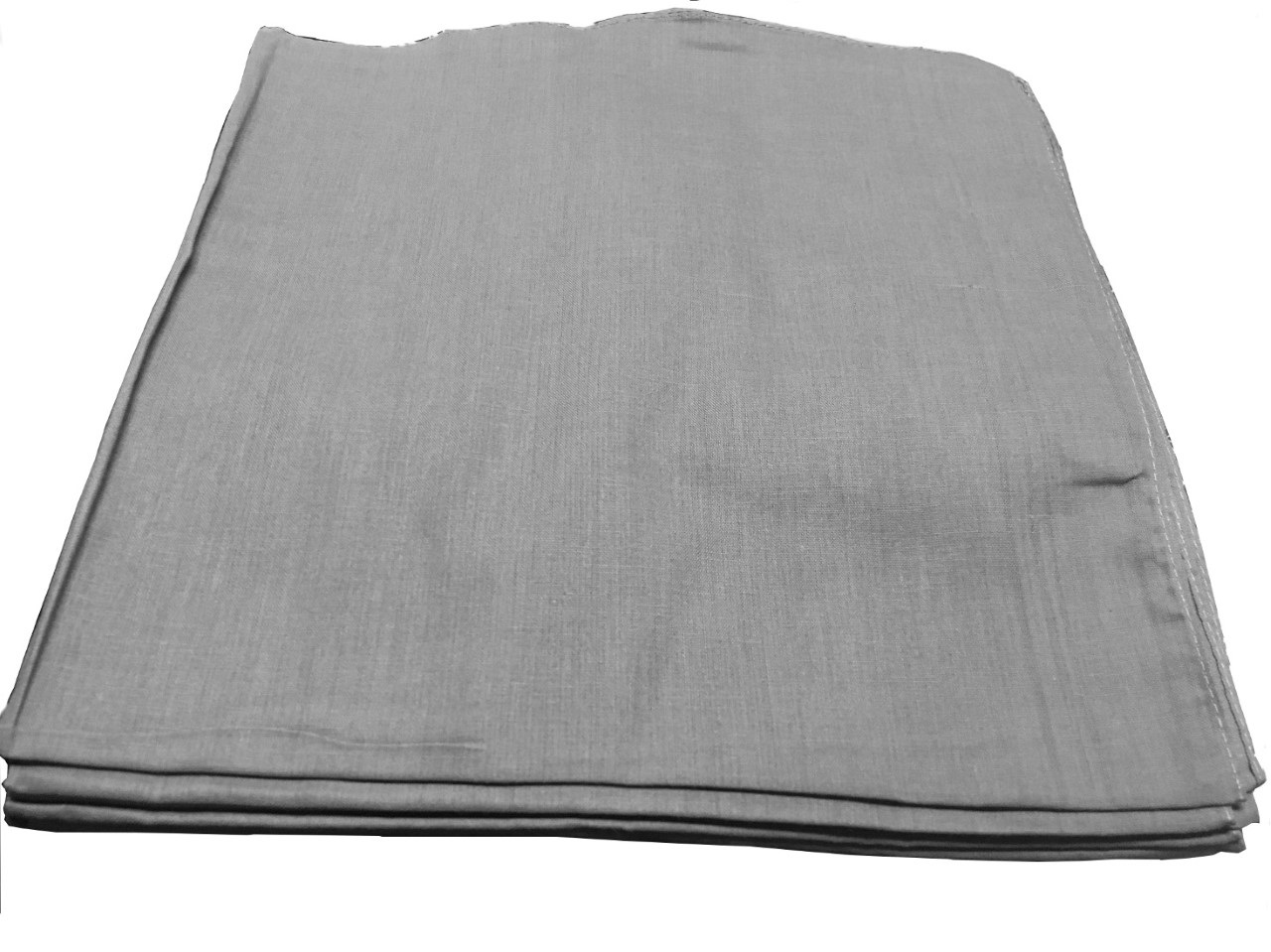"Grey Bandanas - Solid Color 22"" x 22"" (12 Pack)"