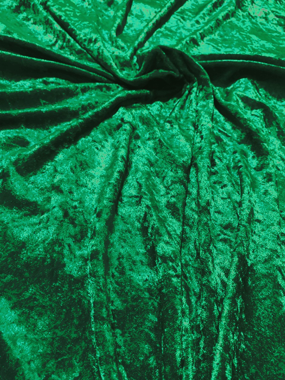 "58"" Hunter Green Stretch Velour Fabric - By The Yard"