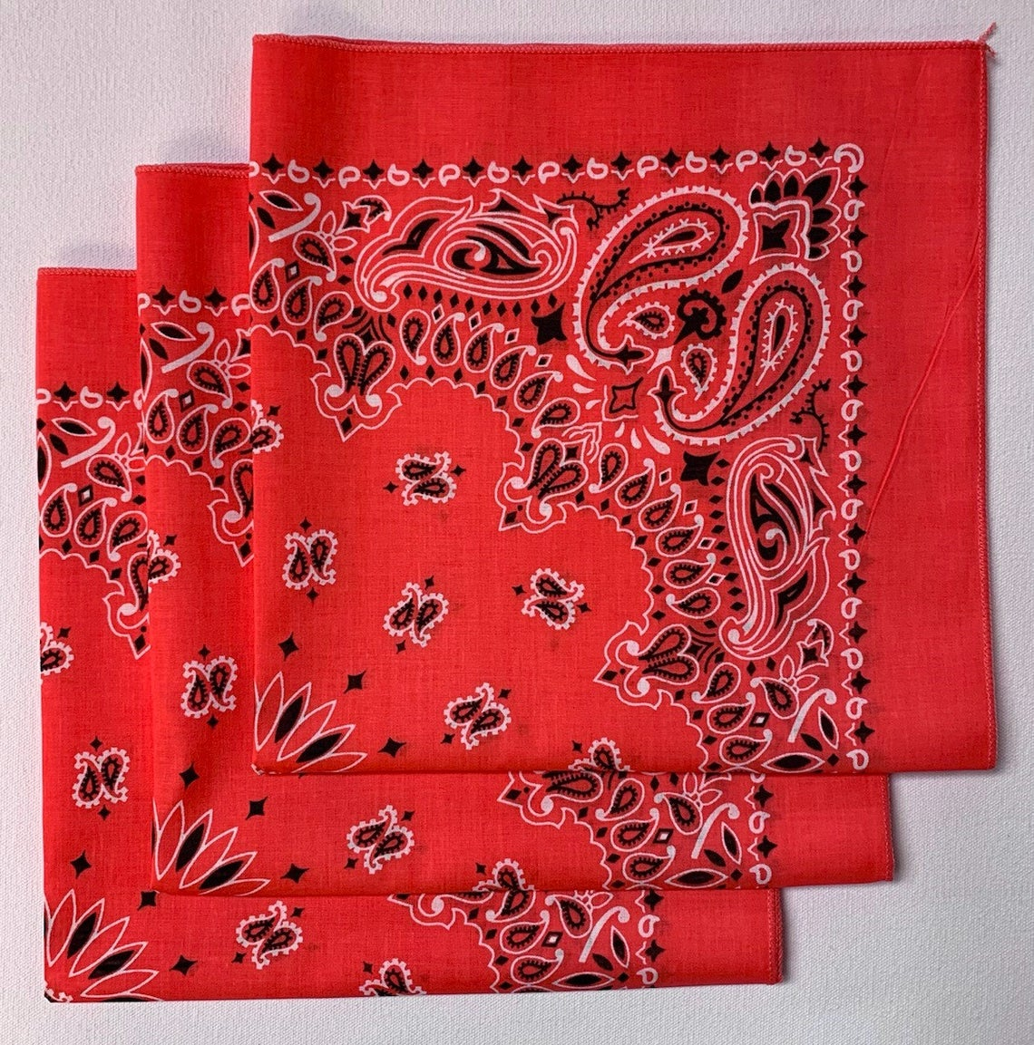 "Honeysuckle Paisley Bandanas - Made In The USA (3 Pk) 22"" x 22"""