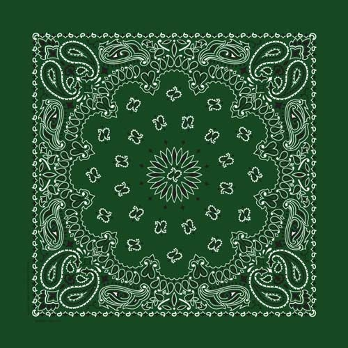 "Hunter Paisley Bandanas - USA Made (12 Pk) 22"" x 22"""