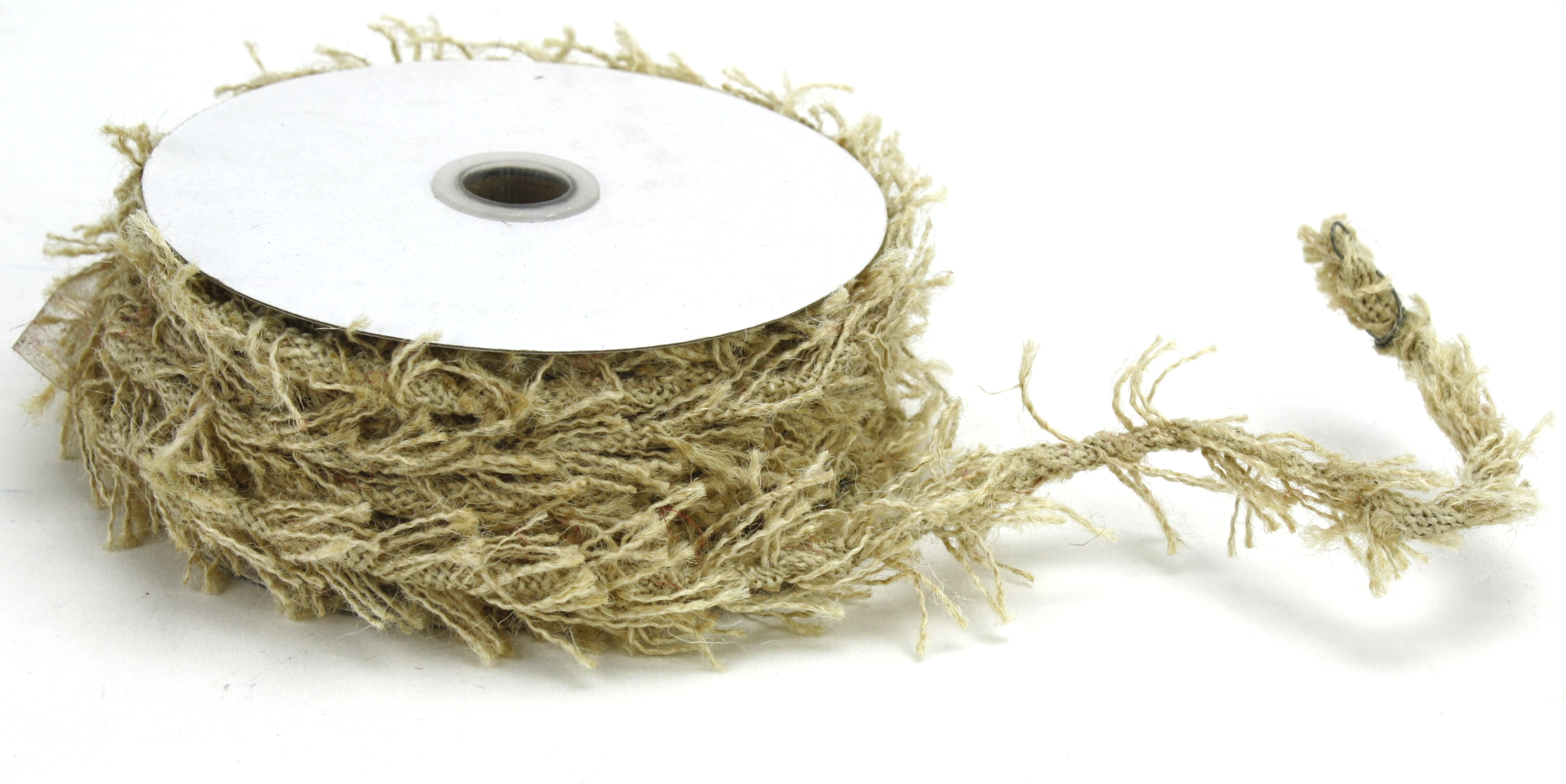 8mm Ivory Jute Twine - 10 Yards (wired)