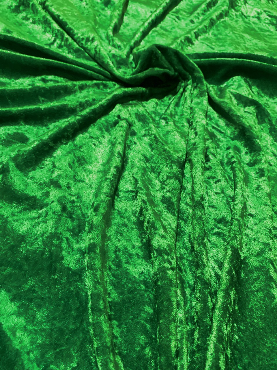 "58"" Kelly Green Stretch Velour Fabric - By The Yard"