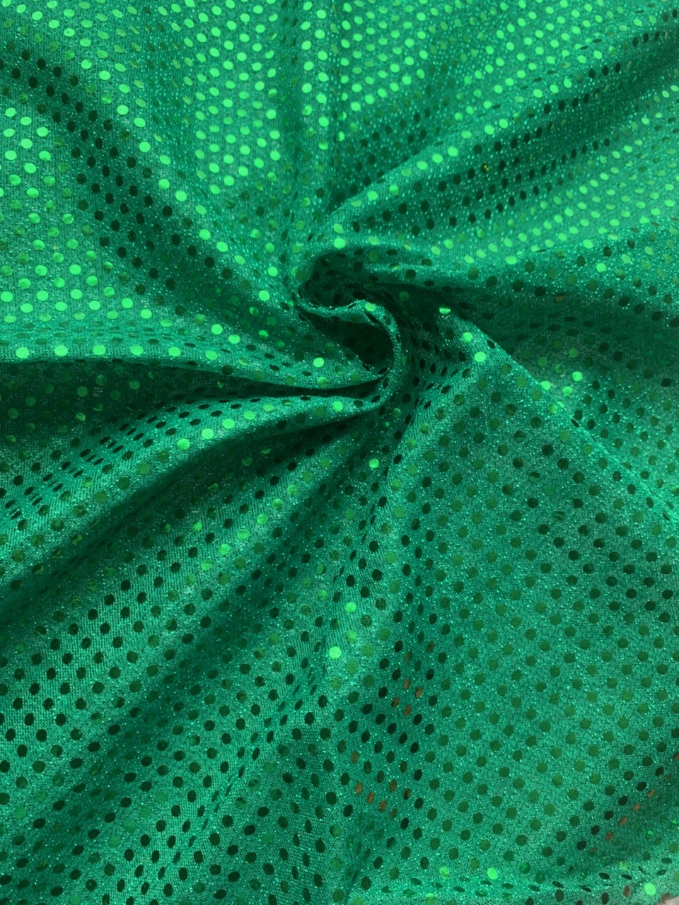 "44/45"" Kelly Green Dot Sequin Faric By The Yard"