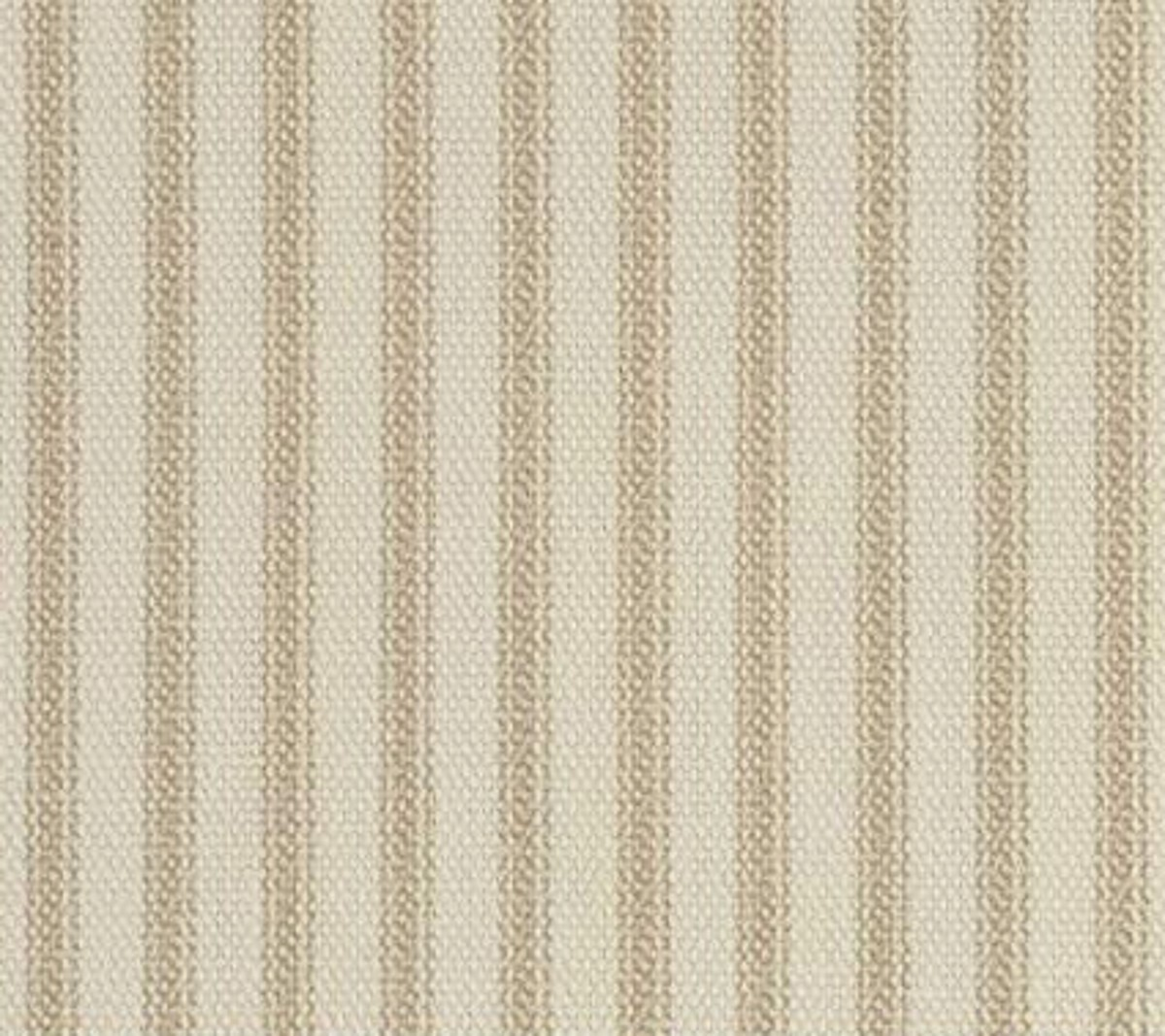 "54"" Khaki Stripe Ticking Fabric - Per Yard"