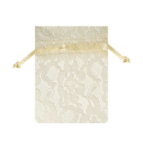 "12 Pack Ivory Lace Bags 3"" x 4"""