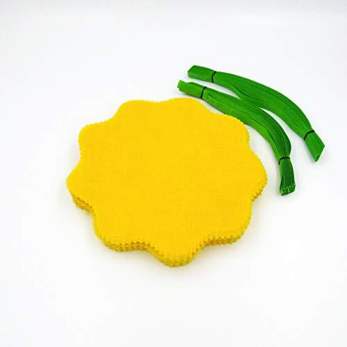 Lemon Wraps (12 Pack) With Green Ribbon