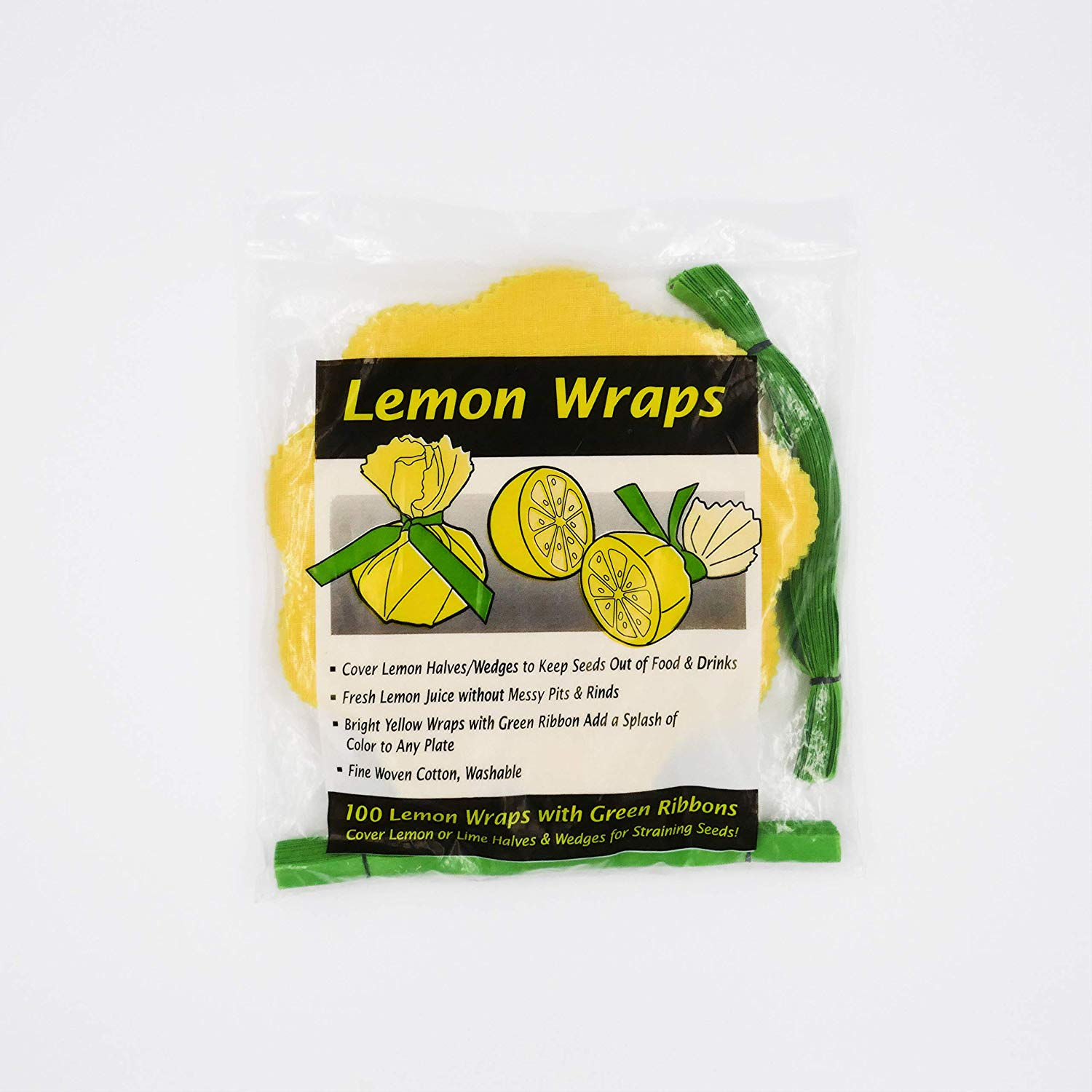 Lemon Wraps - 100 Pack With Green Ribbons