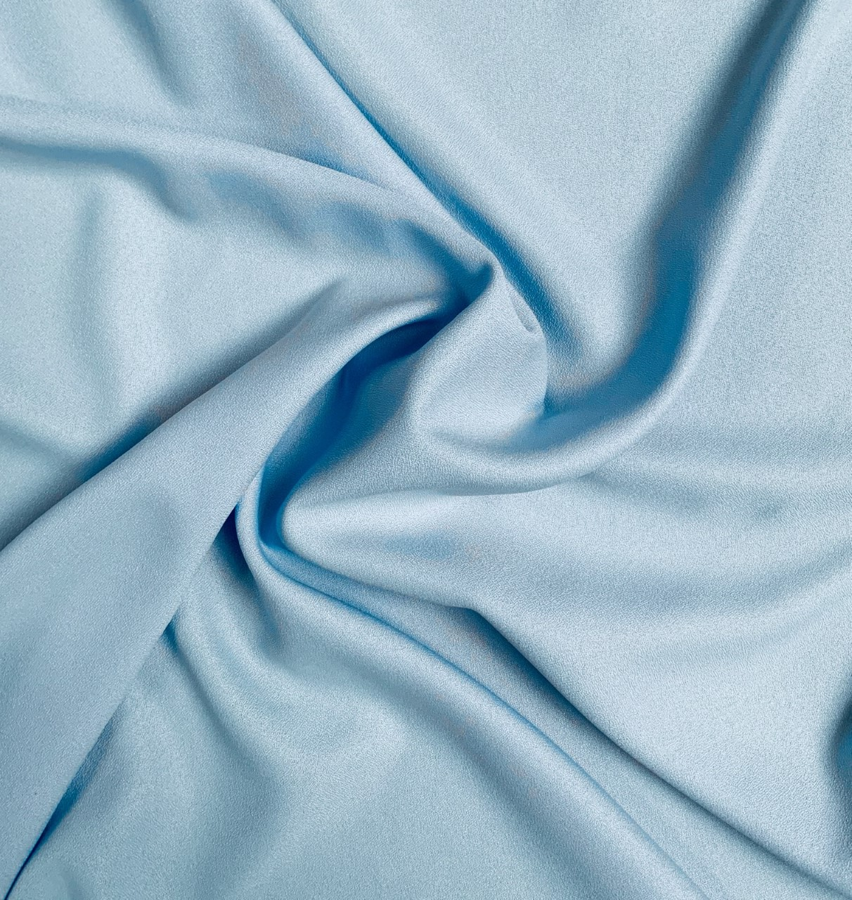 "Light Blue Crepe Fabric - 60"" By the yard (100% polyester)"