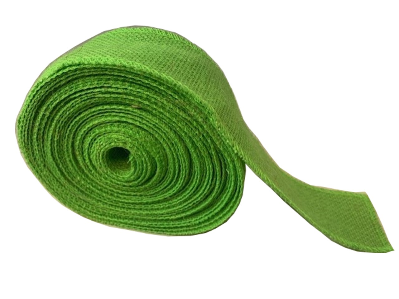 "2"" Lime Burlap Ribbon - 10 Yards (Serged) Made in USA"