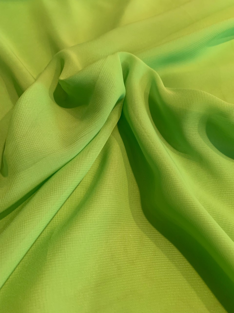 "58"" Lime Chiffon Fabric By The Yard - Polyester"