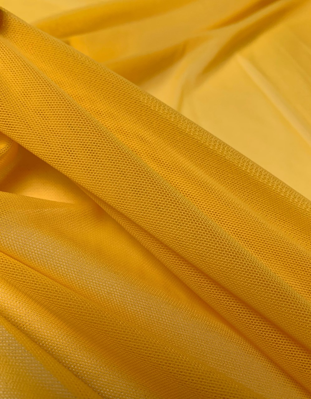 "58/60"" Wide Mustard Power Mesh 90% Nylon 10% Spandex Per Yard"