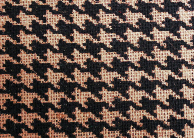 "60"" Houndstooth Natural/Black Burlap Bolt - By The Yard"