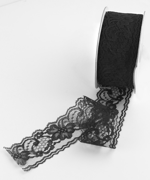"2"" Black Lace - 25 Yards"