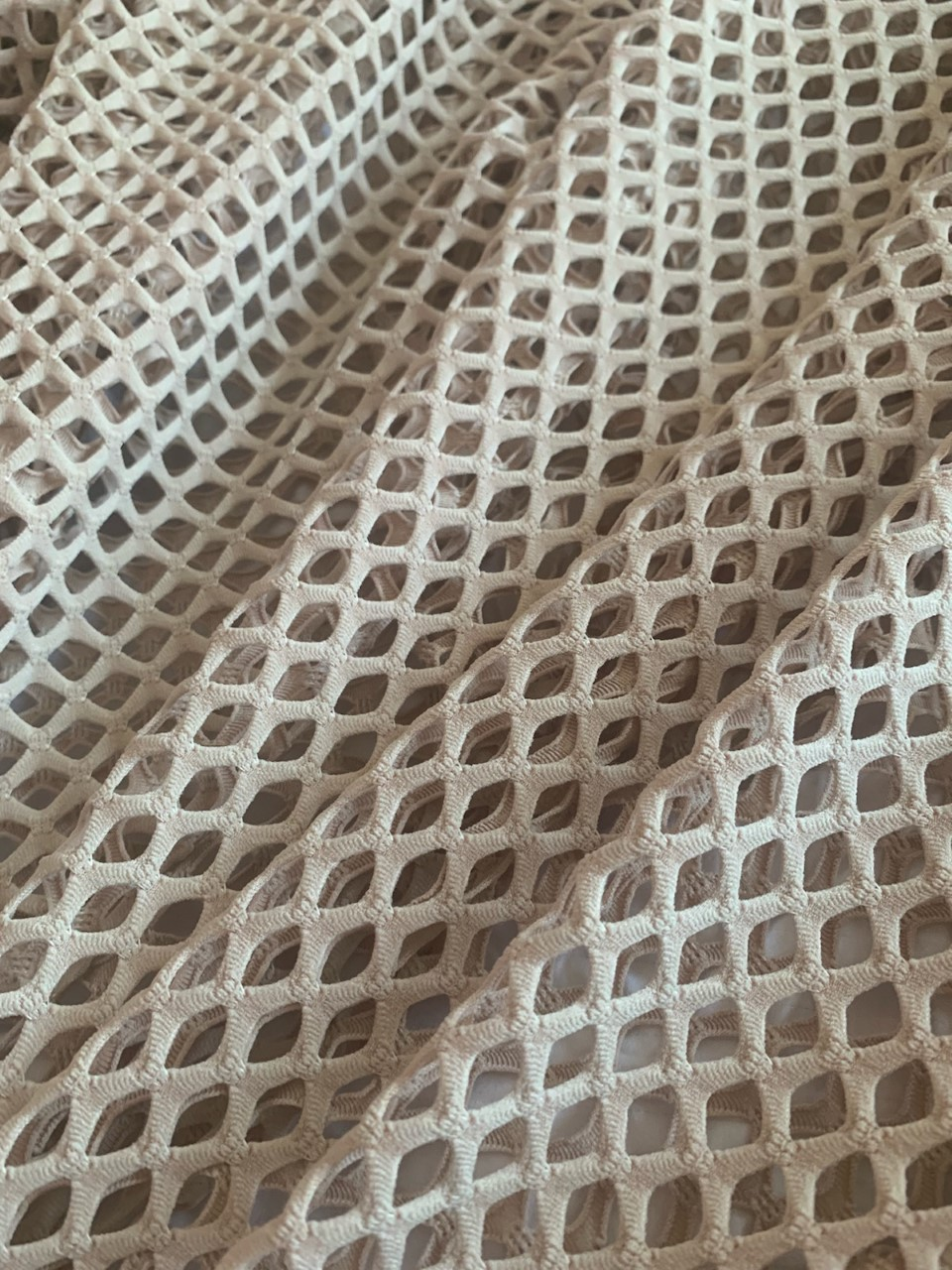 "58"" Nude Poly Mesh Fabric BTY 75% Poly, 17% Nylon, 8% Spandex"