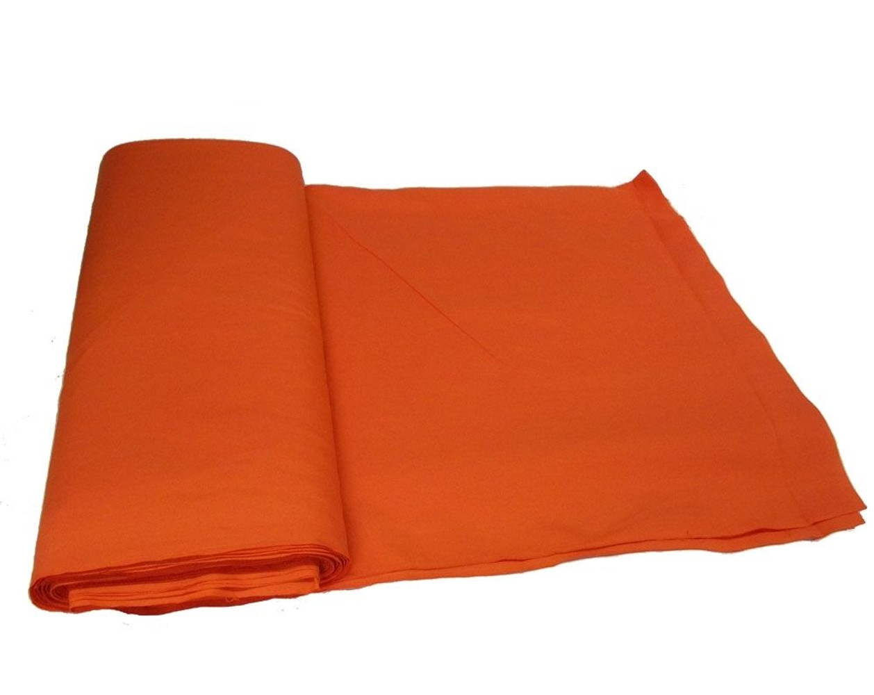 "Orange Broadcloth Fabric 45"" - By The Yard"