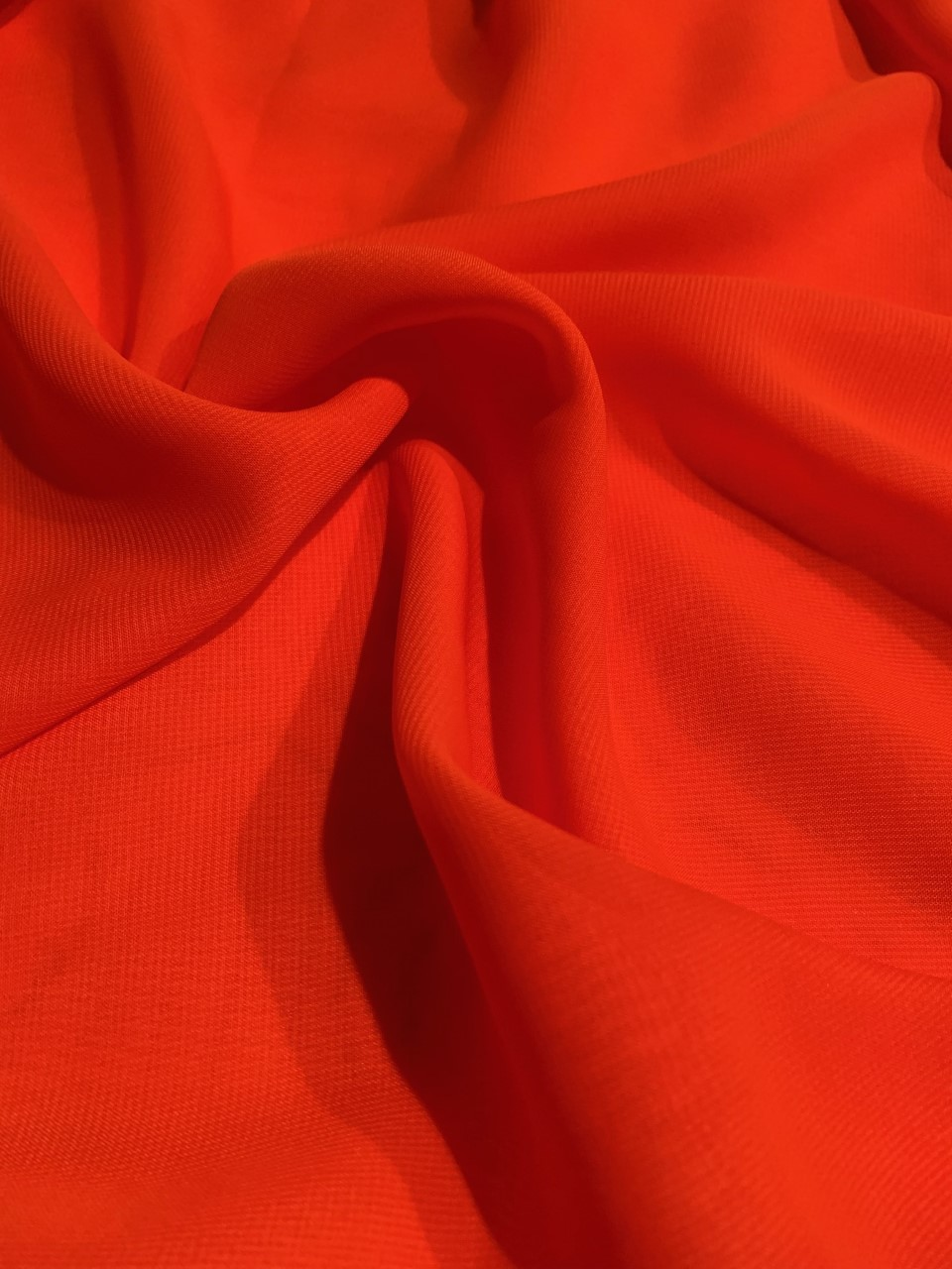 "58"" Orange Chiffon Fabric By The Yard - Polyester"