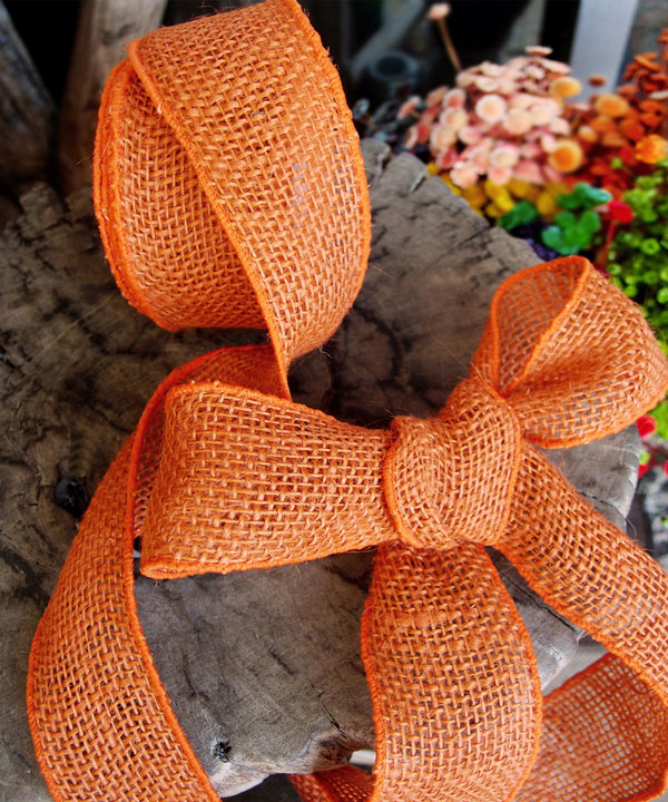 "2"" Wired Orange Ribbon - 10 Yards"