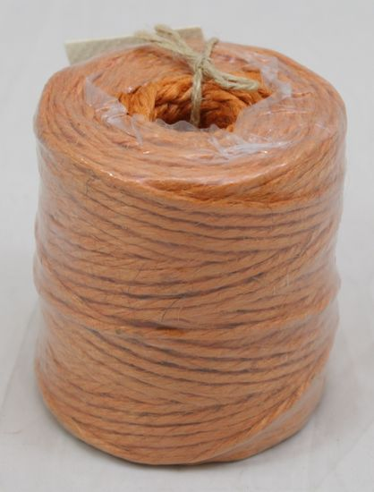 Orange Jute Twine 3-Ply 75 Yards