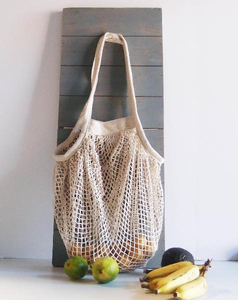 "Organic Cotton Mesh Tote Bag 15.7"" x 15.7"""