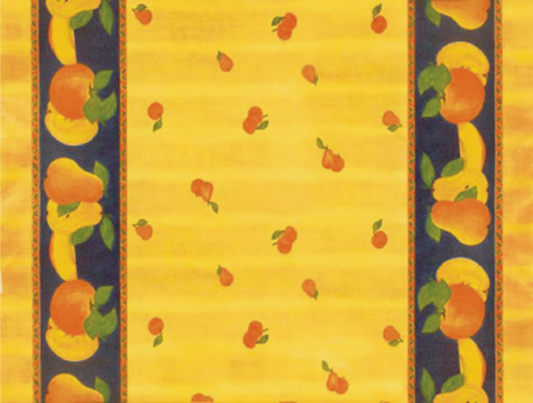 "55"" Pears Vinyl with Non-Woven Back - By The Yard"