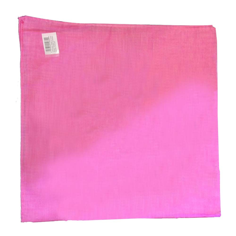 "Pink Solid Bandana - 22"" x 22"" (100% cotton)"