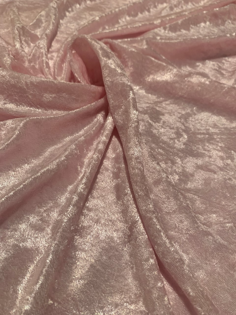 "58"" Pink Stretch Velour Fabric - By The Yard"