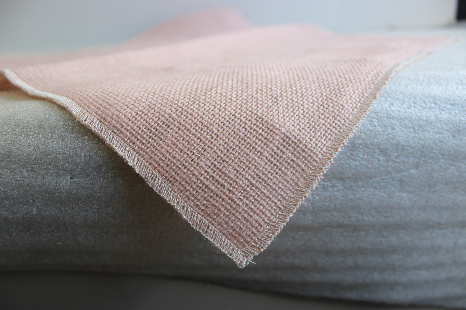 Colored Napkins -Peach with Oyster Edge