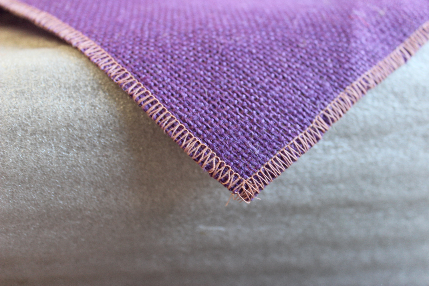 Colored Napkins -Purple with Peach Edge