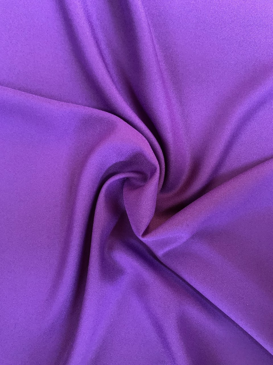 "Purple Crepe Fabric - 60"" by the yard (100% polyester)"