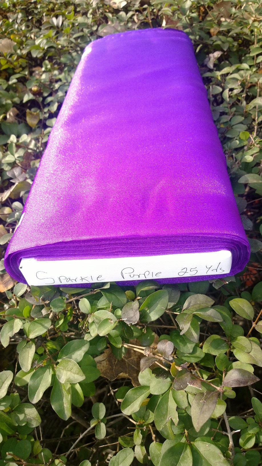 "45"" Purple Sparkle Organza Fabric - 100% Nylon (Per Yard)"