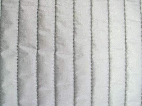 "43"" Wide Silver Quilted Heat Resistant Fabric By The Yard"