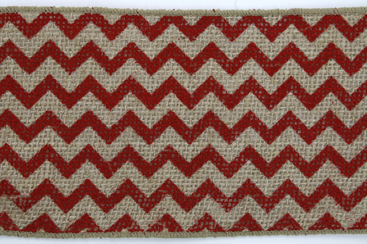 "4"" Red Chevron Burlap - 10 Yards"