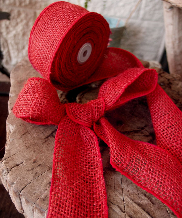 "2"" Wired Red Ribbon - 10 Yards"