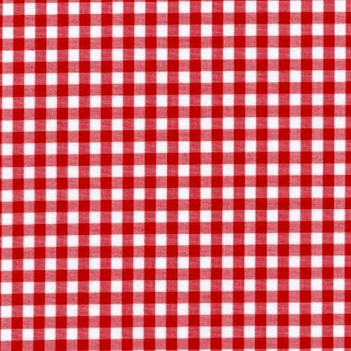 "54"" Red Gingham Vinyl with Felt Back - By The Yard"