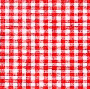 "54"" Red Gingham Vinyl with Flannel Backing - 4 Yard roll"