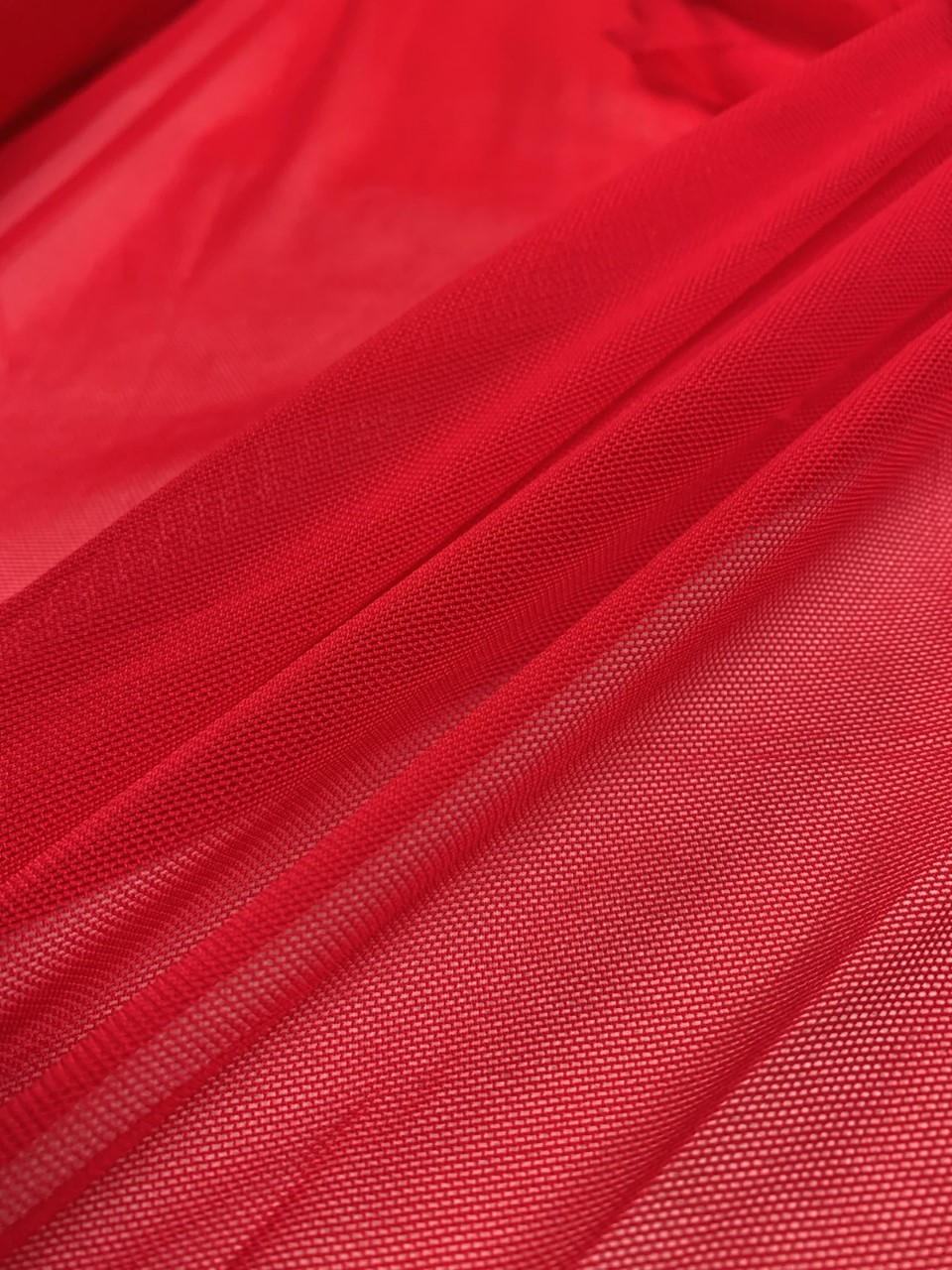 "58/60"" Wide Red Power Mesh 90% Nylon 10% Spandex Per Yard"