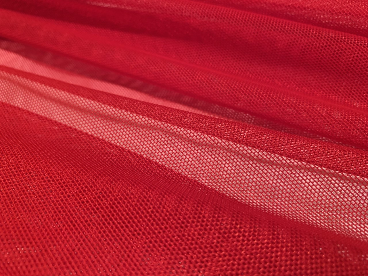 "60"" Red Power Mesh Fabric 80% Poly 20% Spandex Per Yard"
