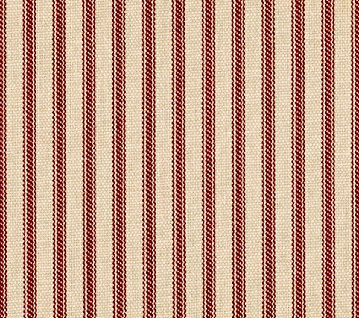 "44"" Red Stripe Ticking Fabric - Per Yard"