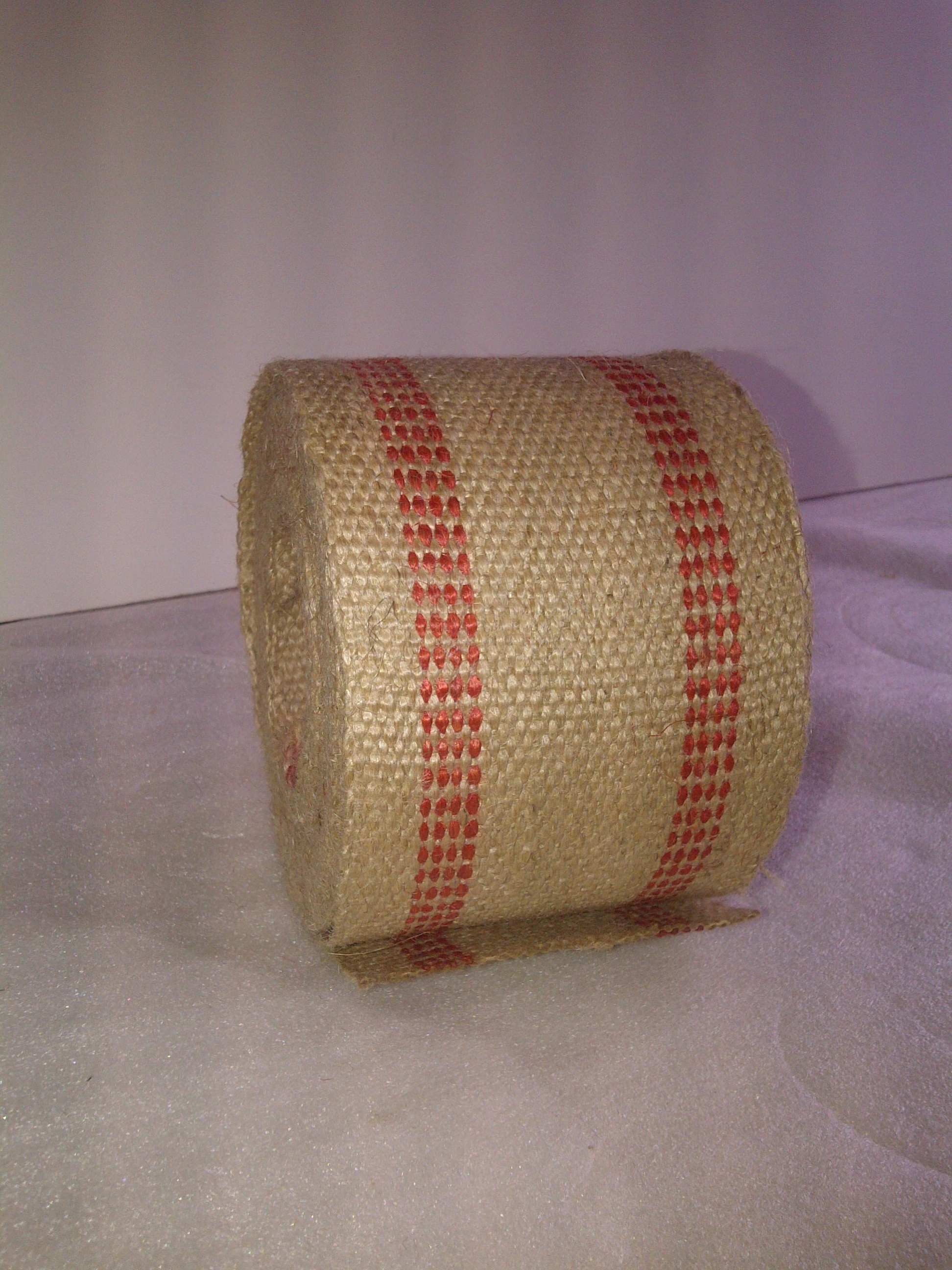 Red Jute Webbing by the Foot