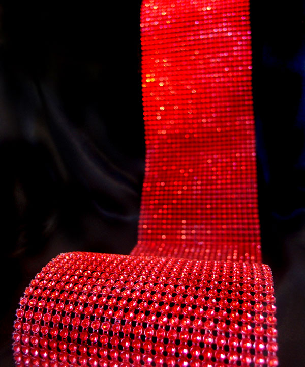 "Red Diamond Wrap with Reflective Impressions 4.5"" Wide x 30 Ft"