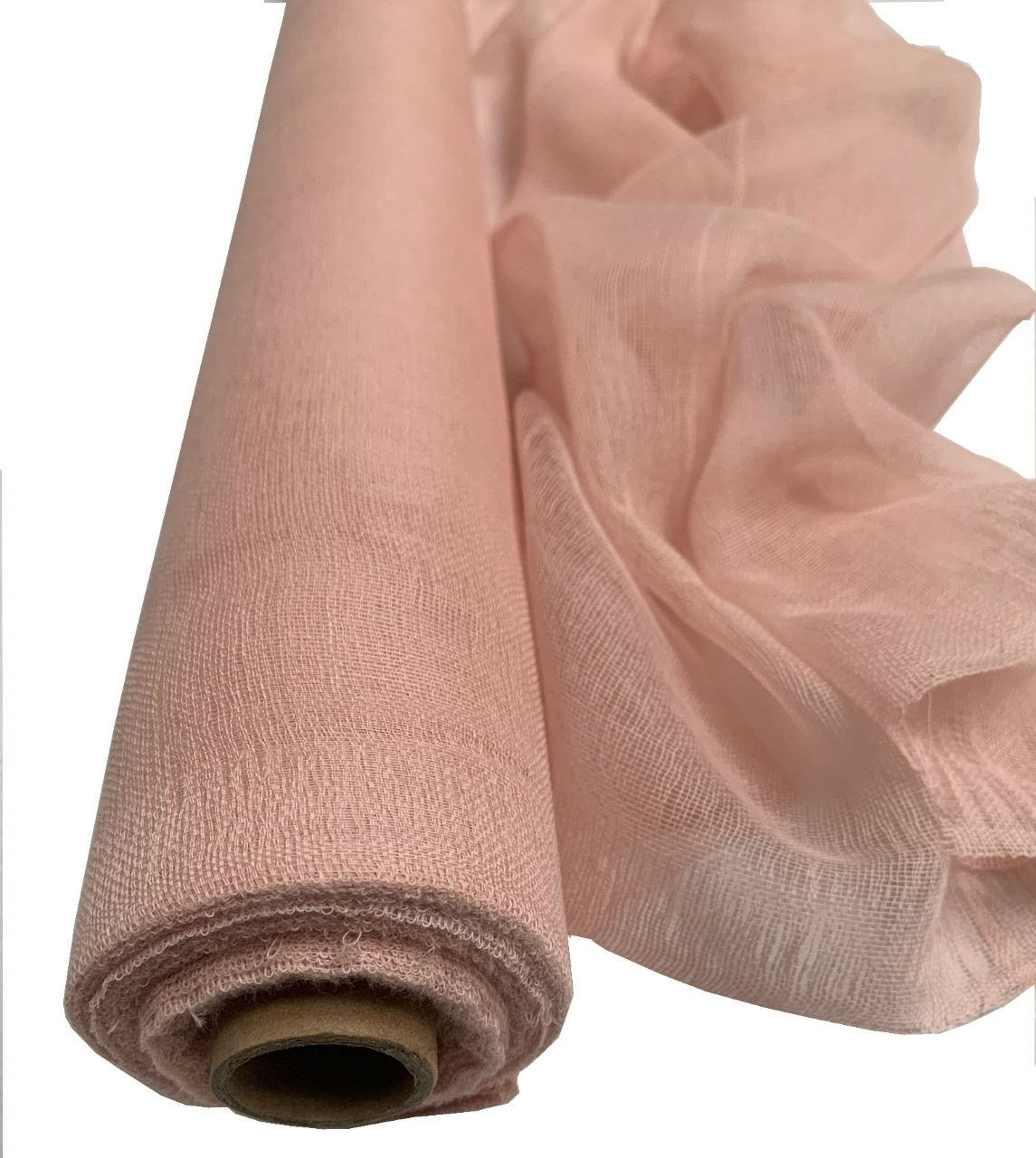"36"" Wide Rose Gold Cheesecloth Sold By The Yard - 100% Cotton"